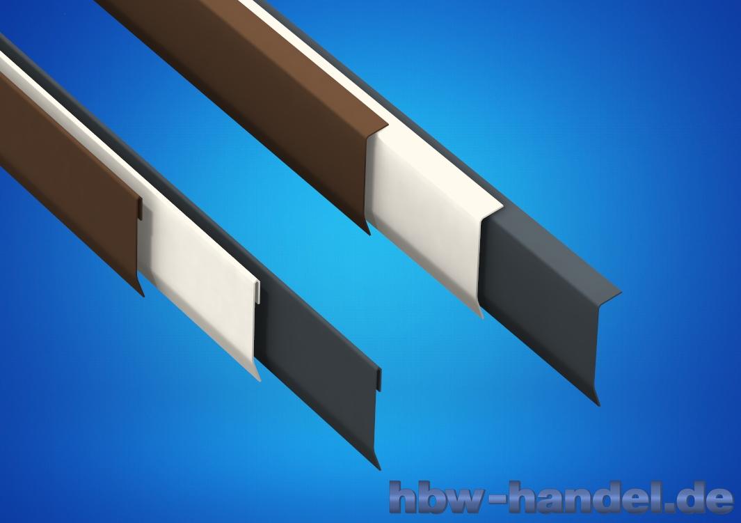 Wandanschlussblech Aluminium farbbeschichtet