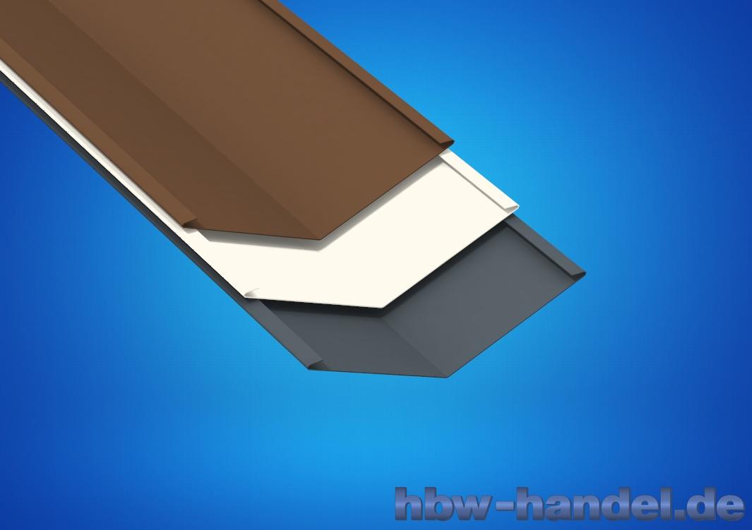 Kehlblech, Aluminium farbbeschichtet