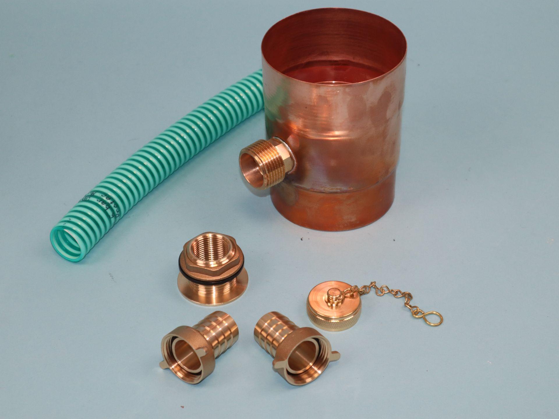 Regenwassersammler Kupfer - Komplettset