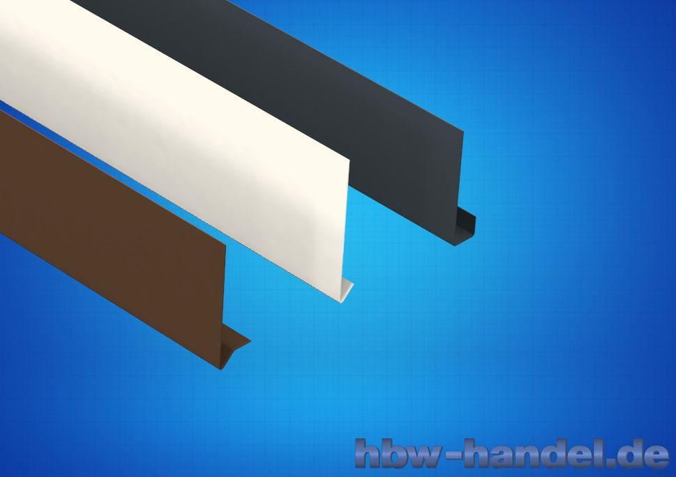 Stirnbrettblende Aluminium farbbeschichtet