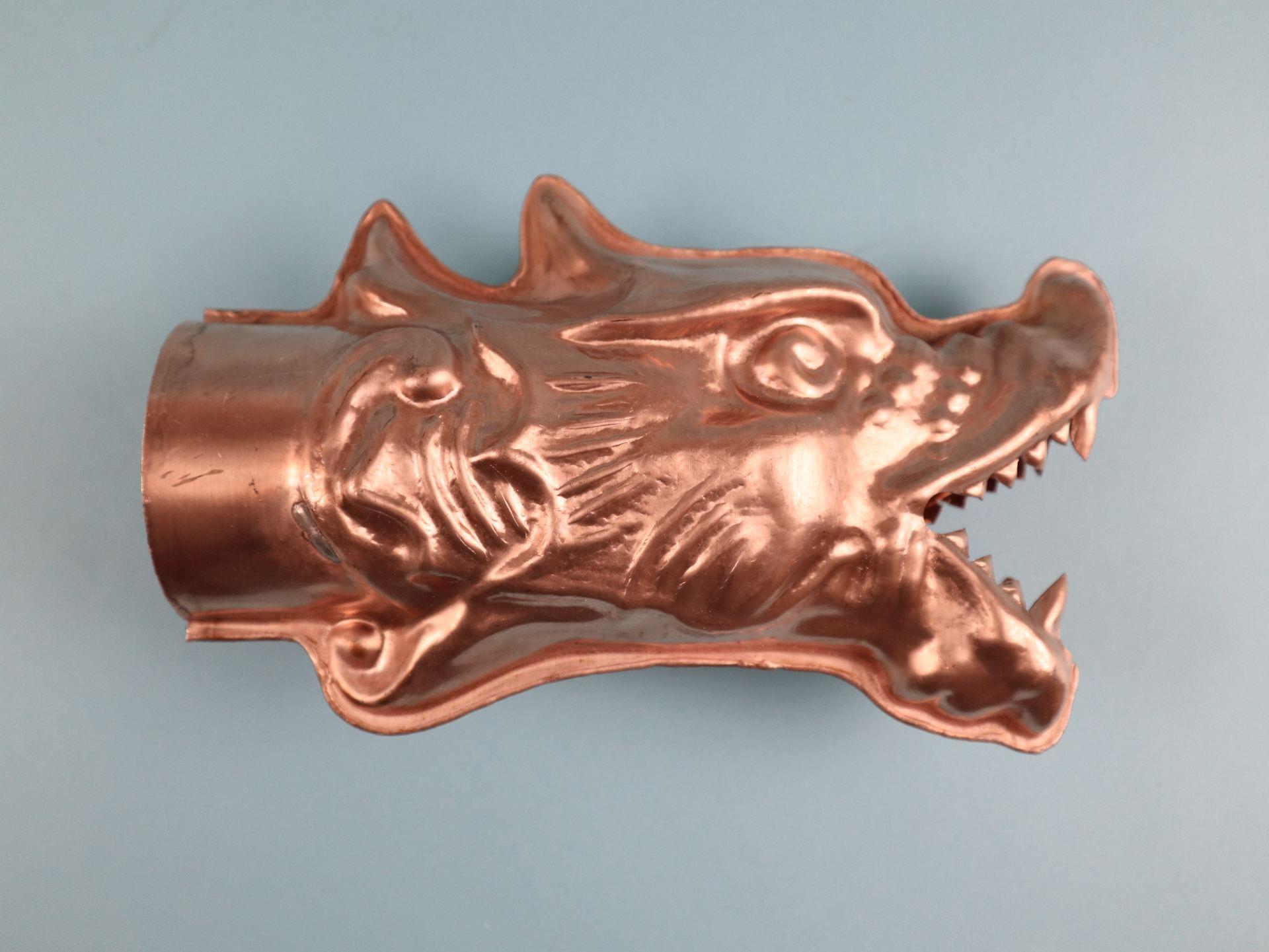 Wasserspeier Drachenkopf Kupfer