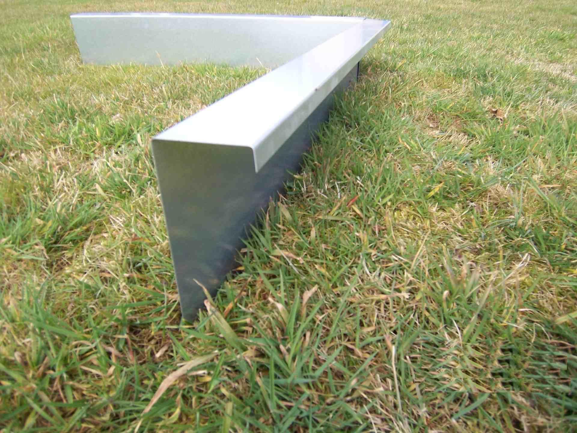 Schneckenzaun aus verzinktem Stahlblech 0,5m Stück