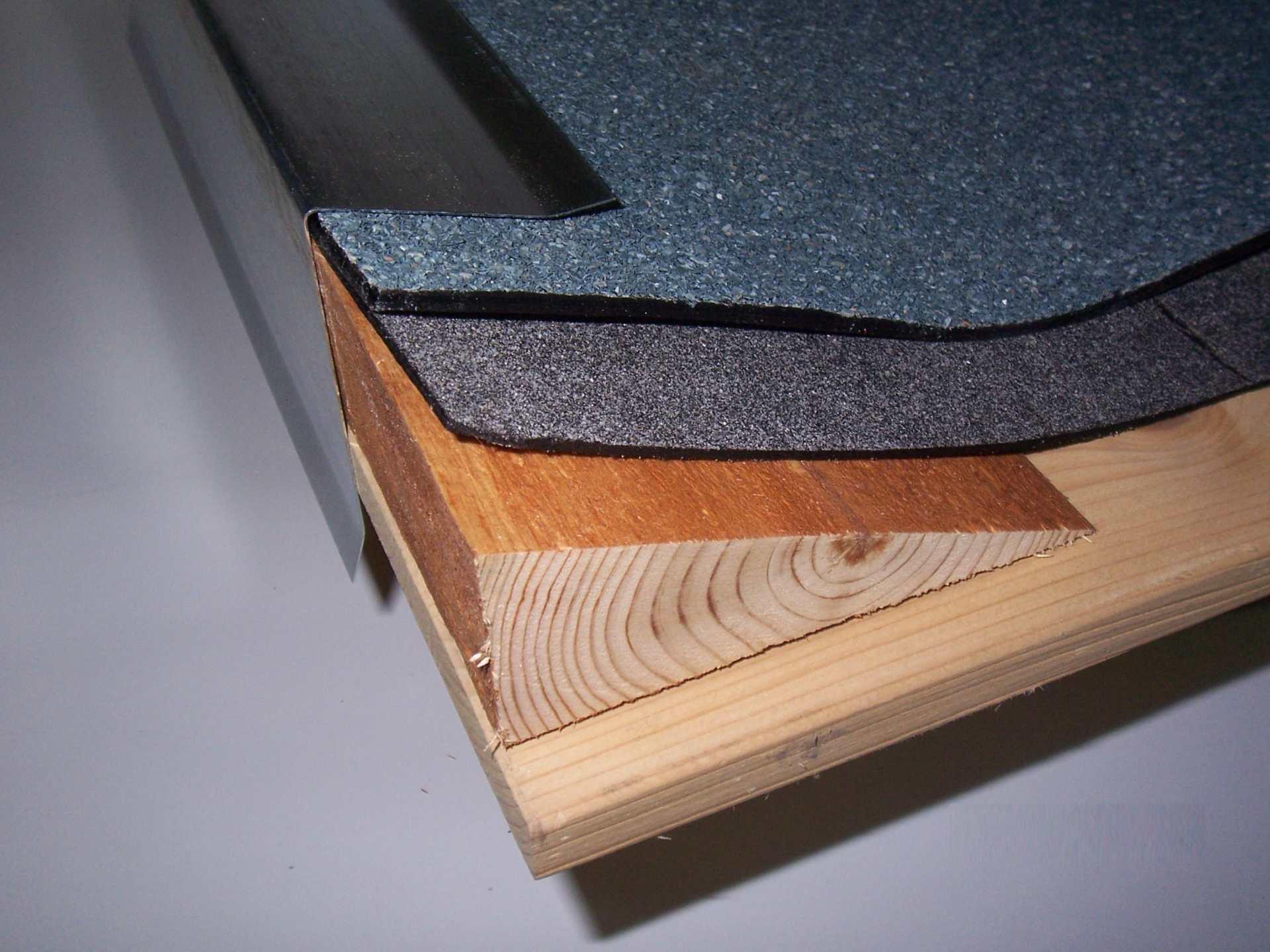 Ortgangblech Kupfer für Flachdach / Holzkeilbohle