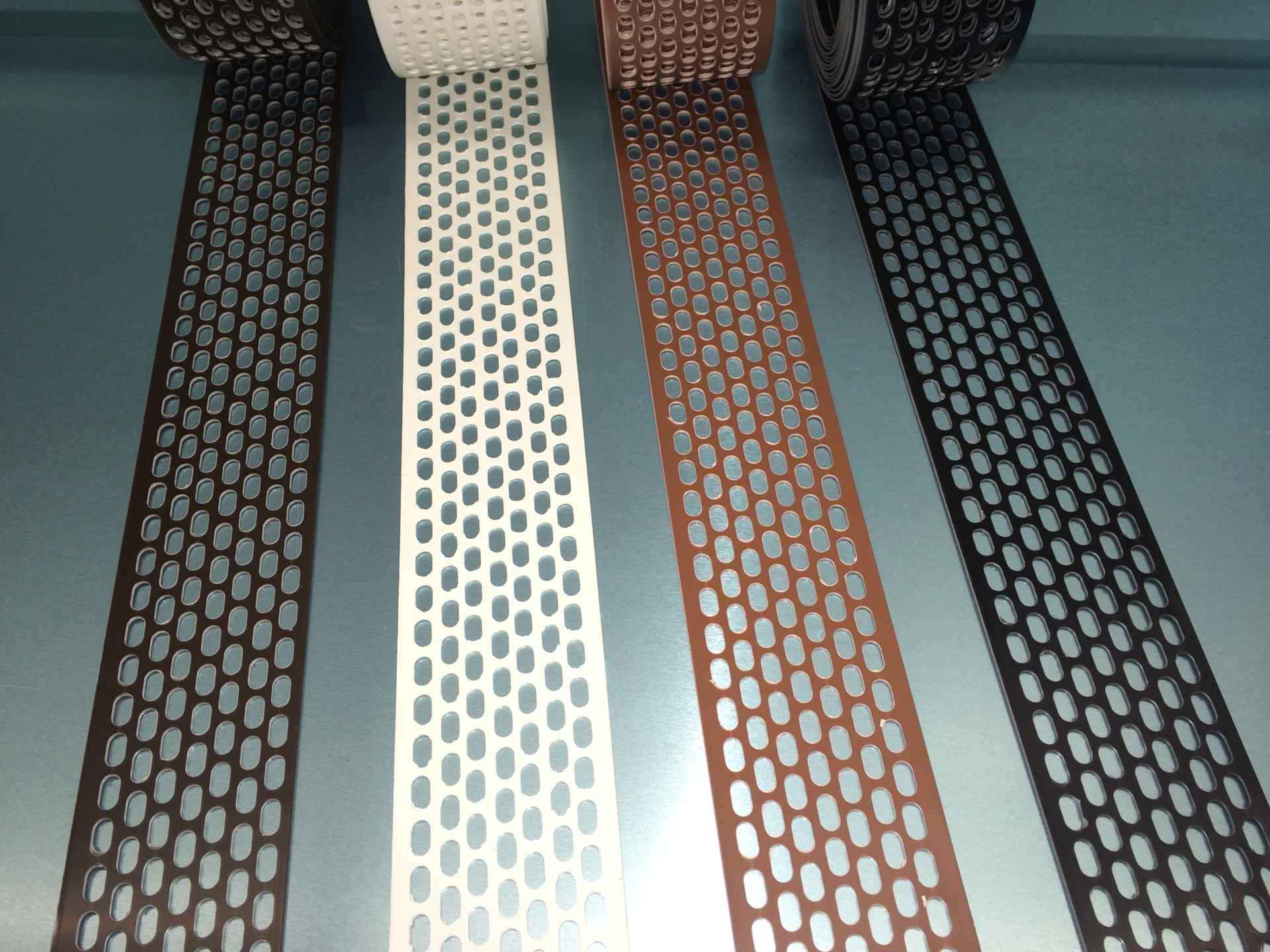 5m Rolle Lüftungsband aus Kunststoff PVC, Farbe und Breite auswählbar