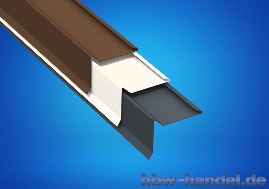 Ortgangblech, Aluminium farbbeschichtet