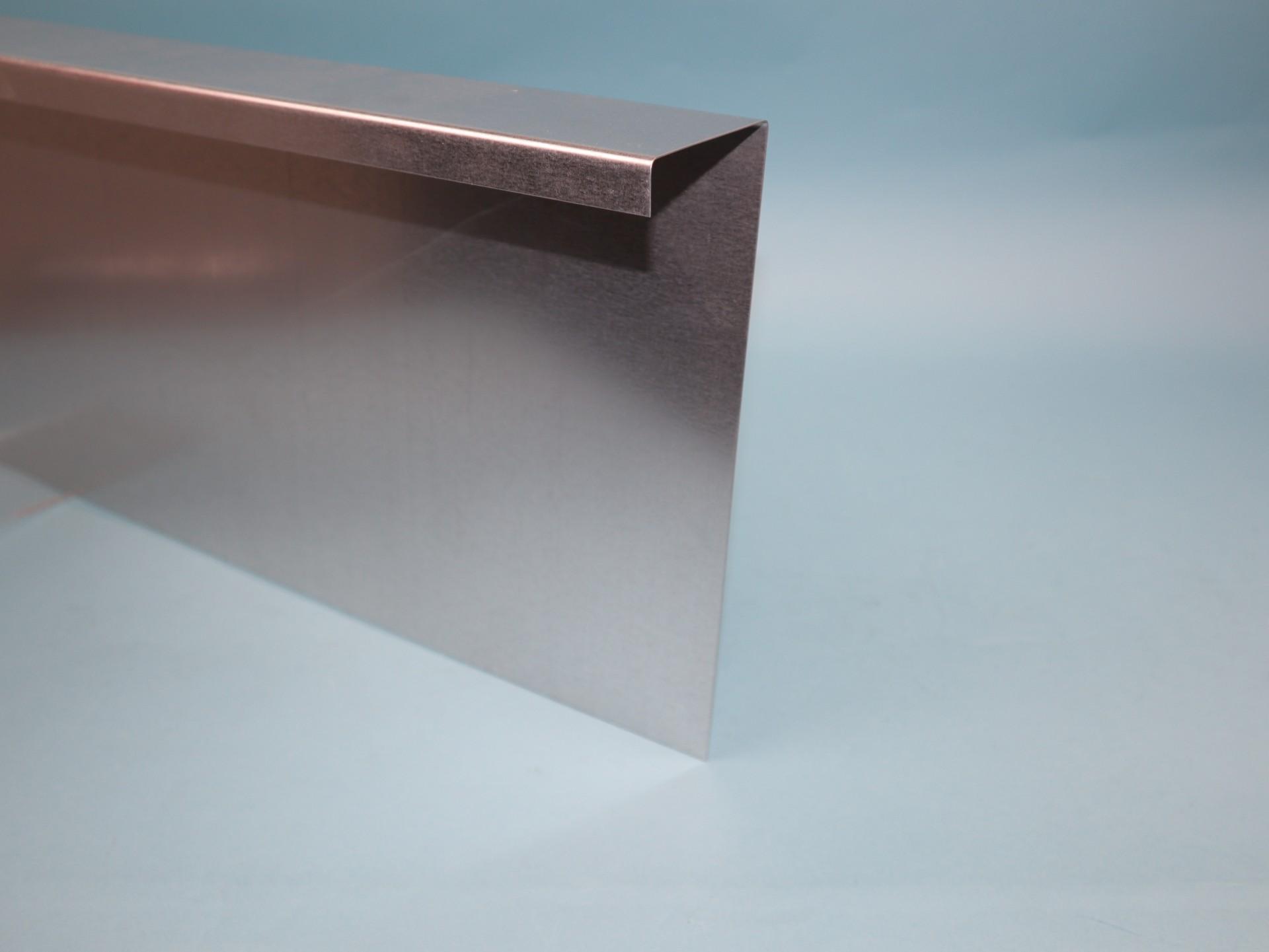 Schneckenzaun aus verzinktem Stahlblech 2m Stück