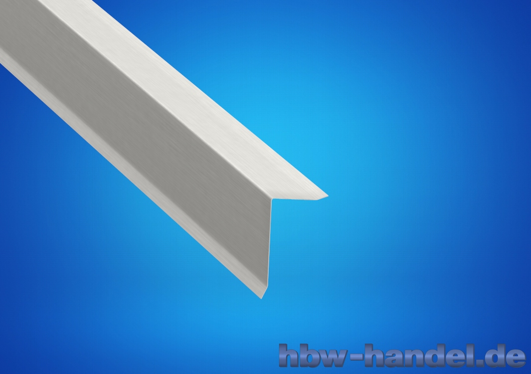 Ortgangblech Aluminium natur für Flachdach / Holzkeilbohle