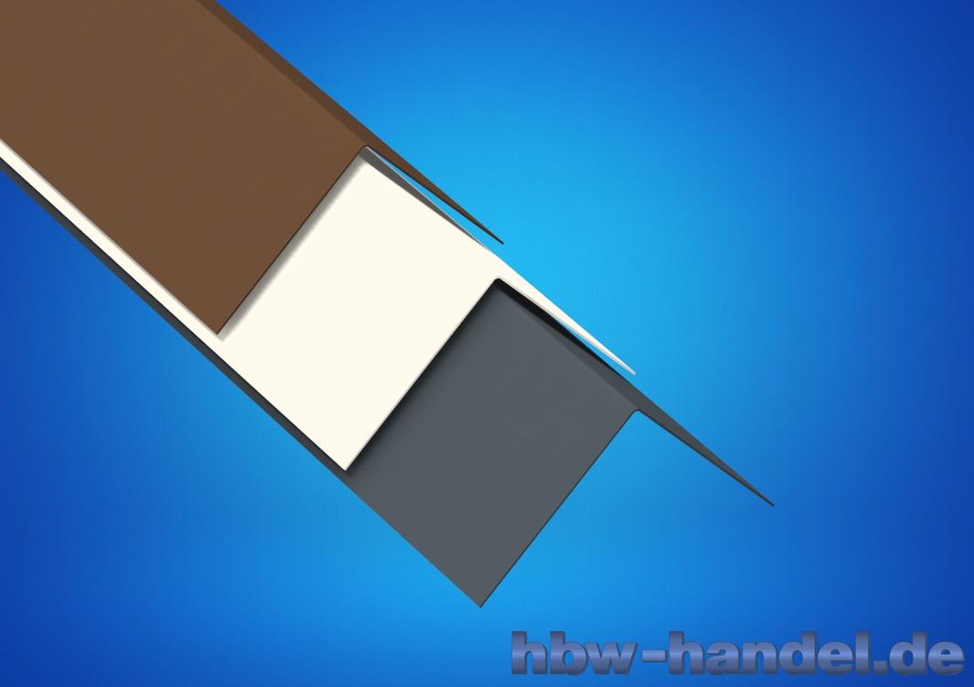 Winkelblech Aluminium farbig