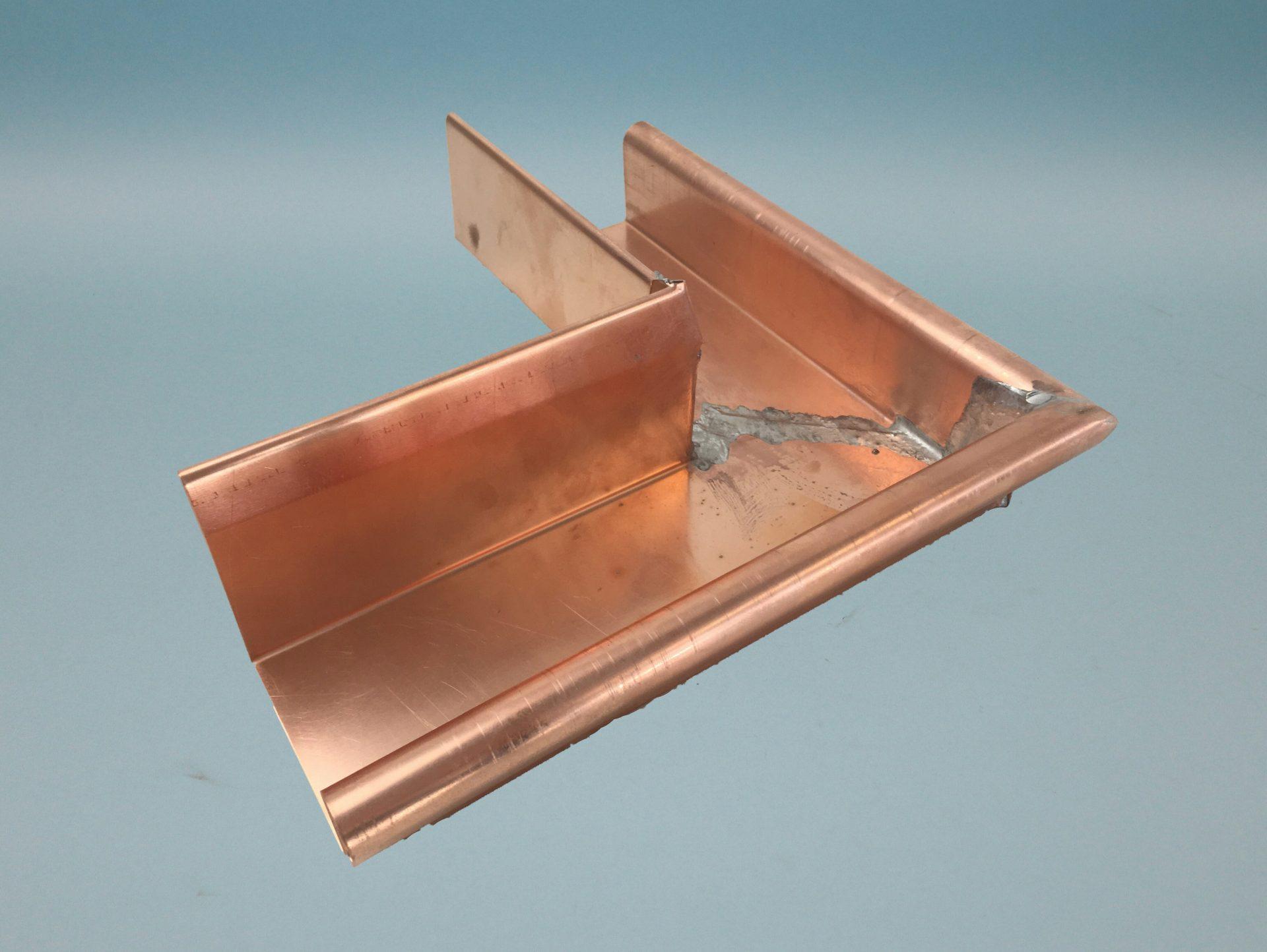 Rinnenwinkel / Außenwinkel Kupfer für Kleindachrinne
