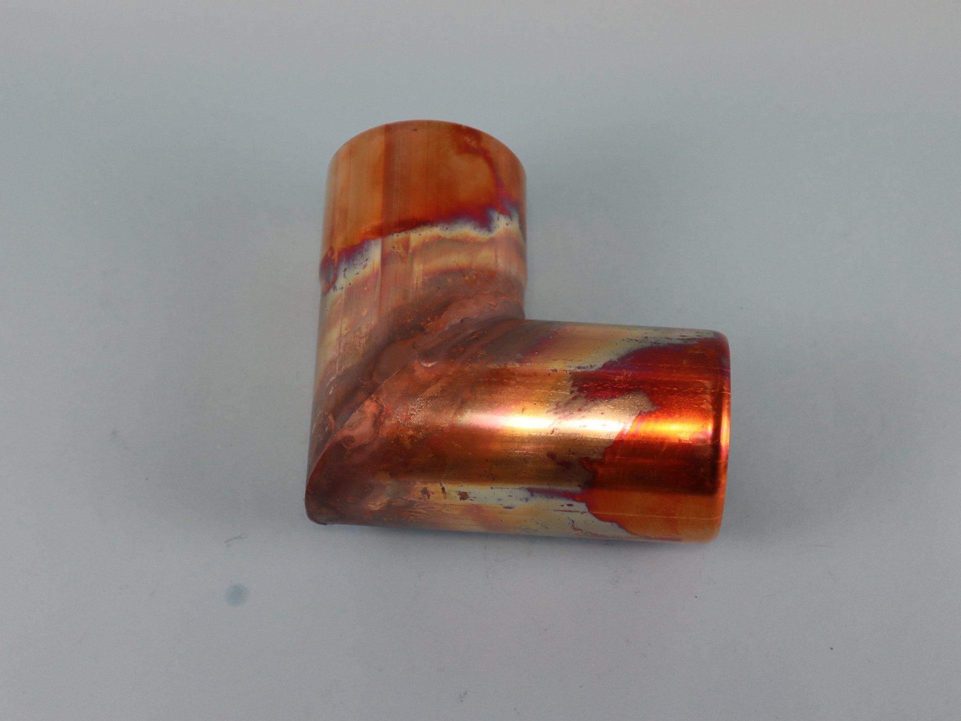Fallrohrbogen Kupfer mit einseitiger Muffe