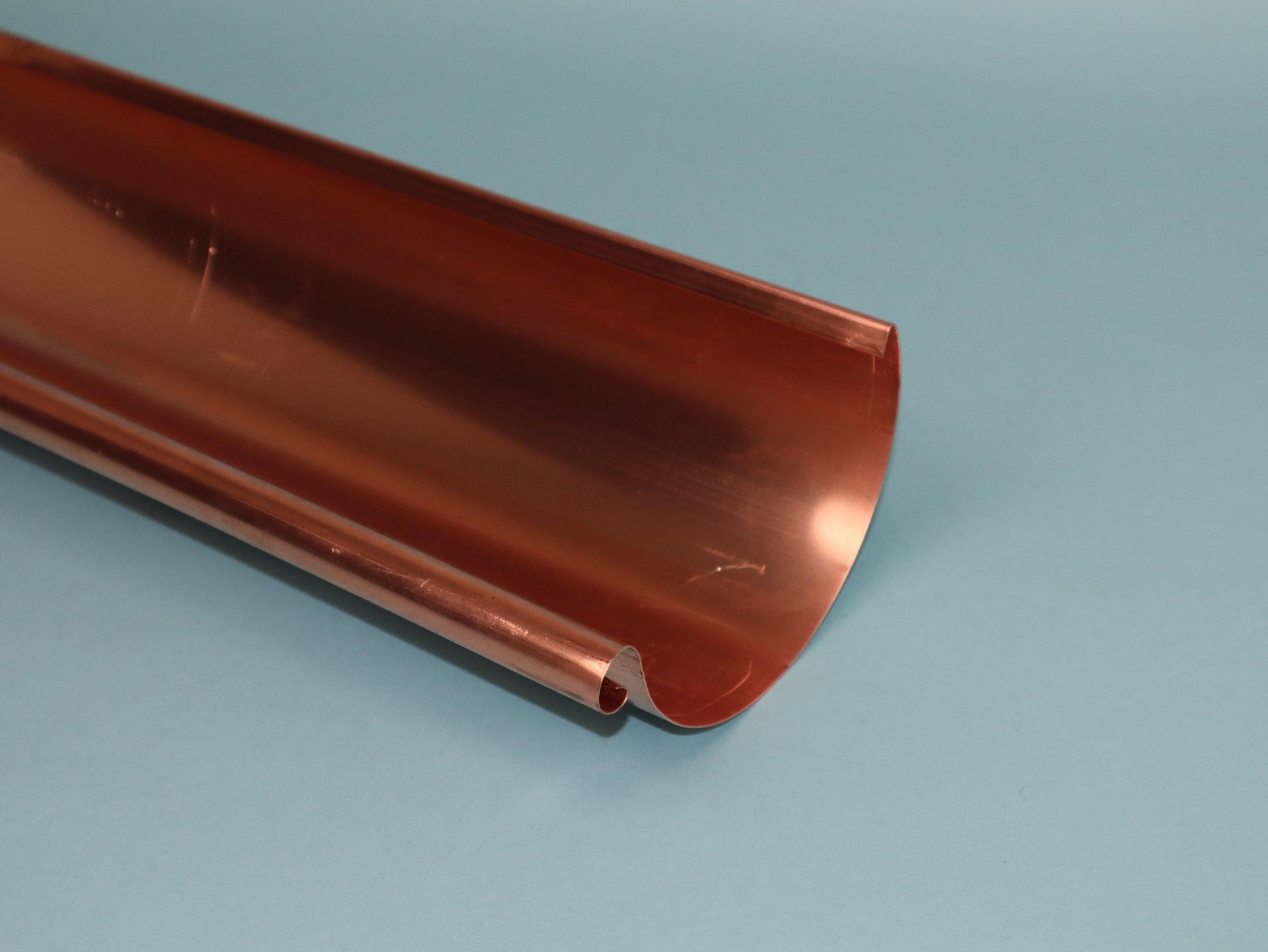 Dachrinne halbrund Kupfer, Größe und Länge auswählbar