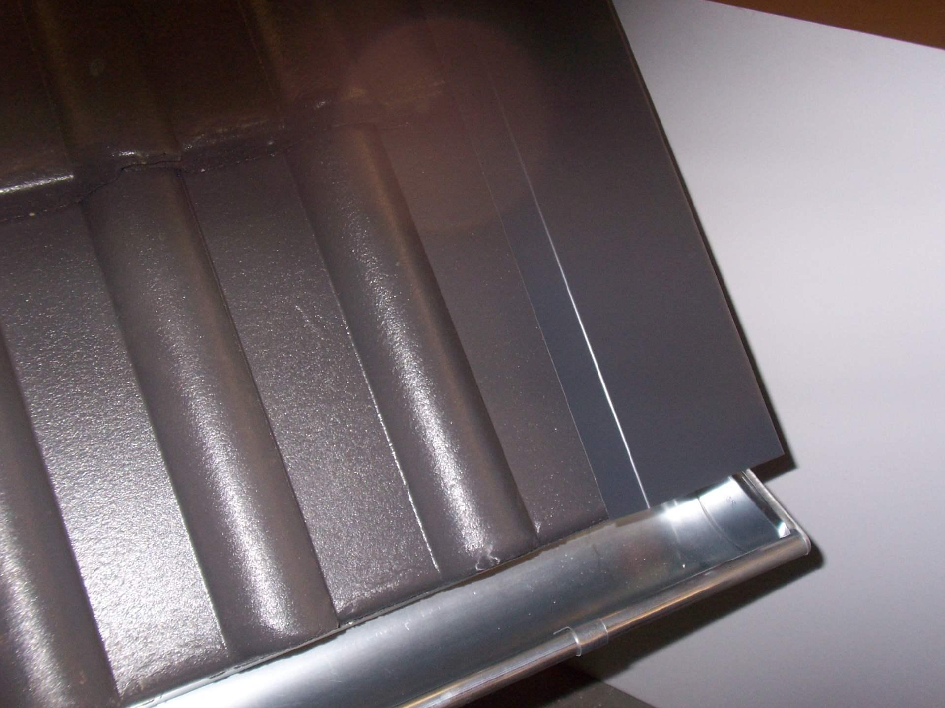 Ortgangblech/Ortgangwinkel, Aluminium farbbeschichtet