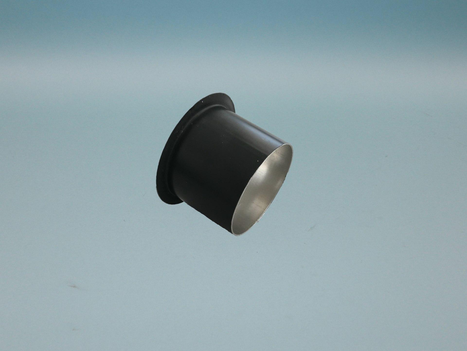 Ablaufstutzen Ø=60mm  verzinkt anthrazit zum kleben/löten