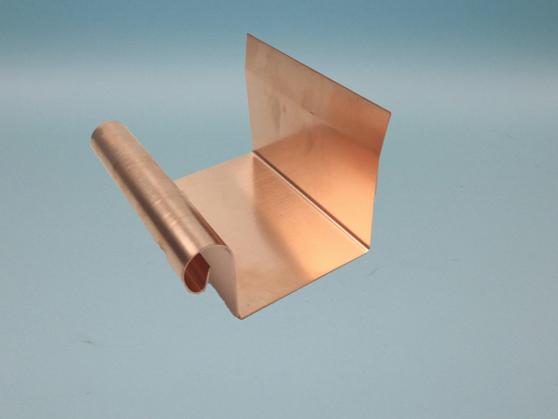 Rinnenverbinder Kupfer für Kleindachrinne