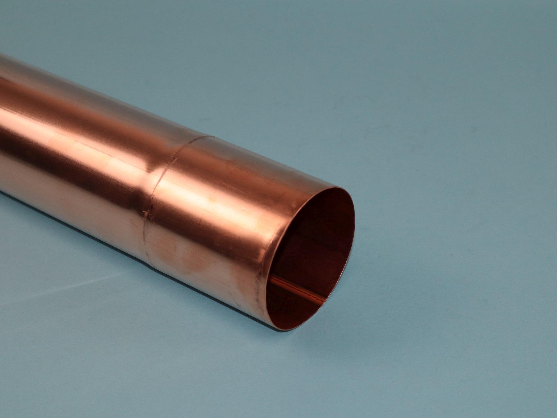 Fallrohr Kupfer mit einseitiger Muffe, Länge auswählbar