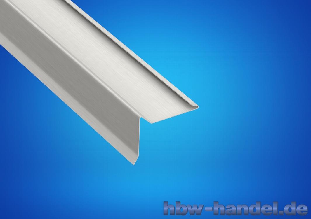 Ortgangblech, Aluminium natur