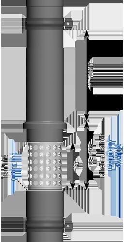 Schiebemuffe Titanzink Laubfangkorb auswählbar