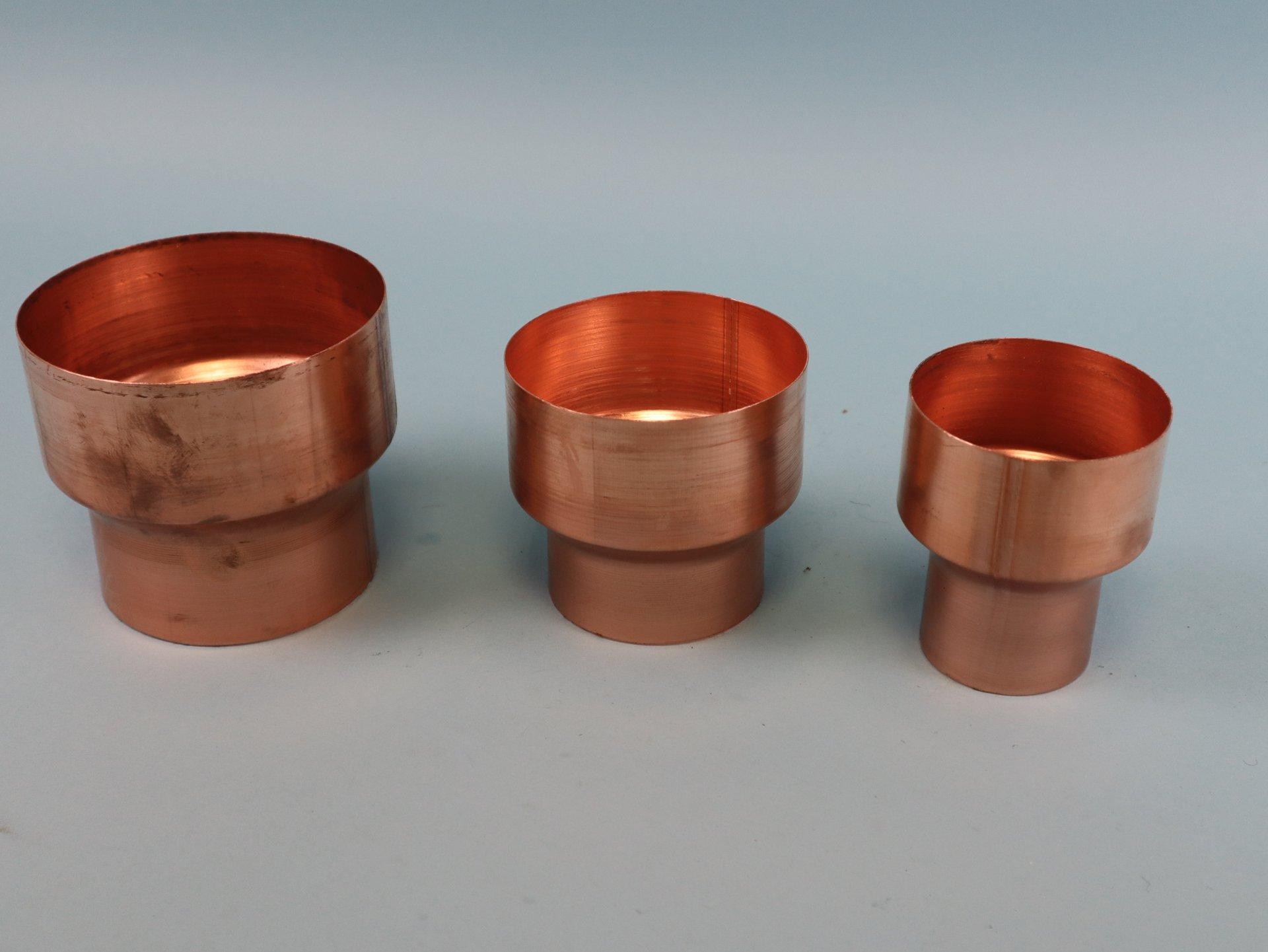 Fallrohrreduzierung Kupfer