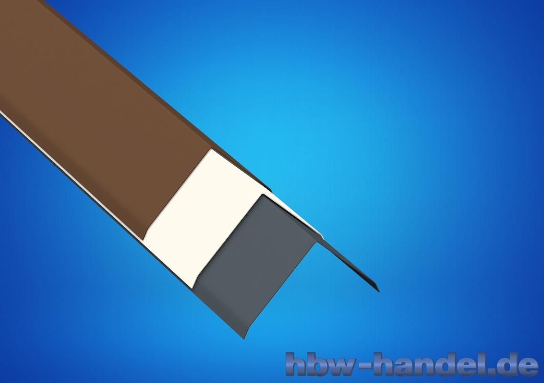 Firstblech, Aluminium farbbeschichtet
