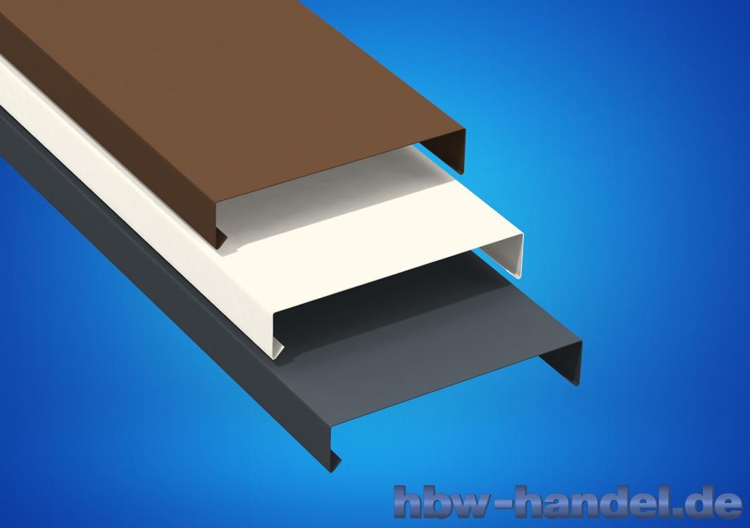 Mauerabdeckung Aluminium farbbeschichtet