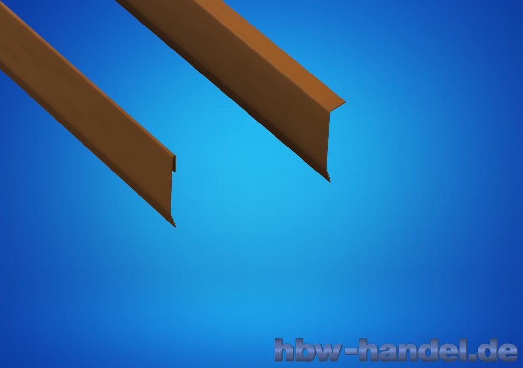 Wandanschlussblech Kupfer