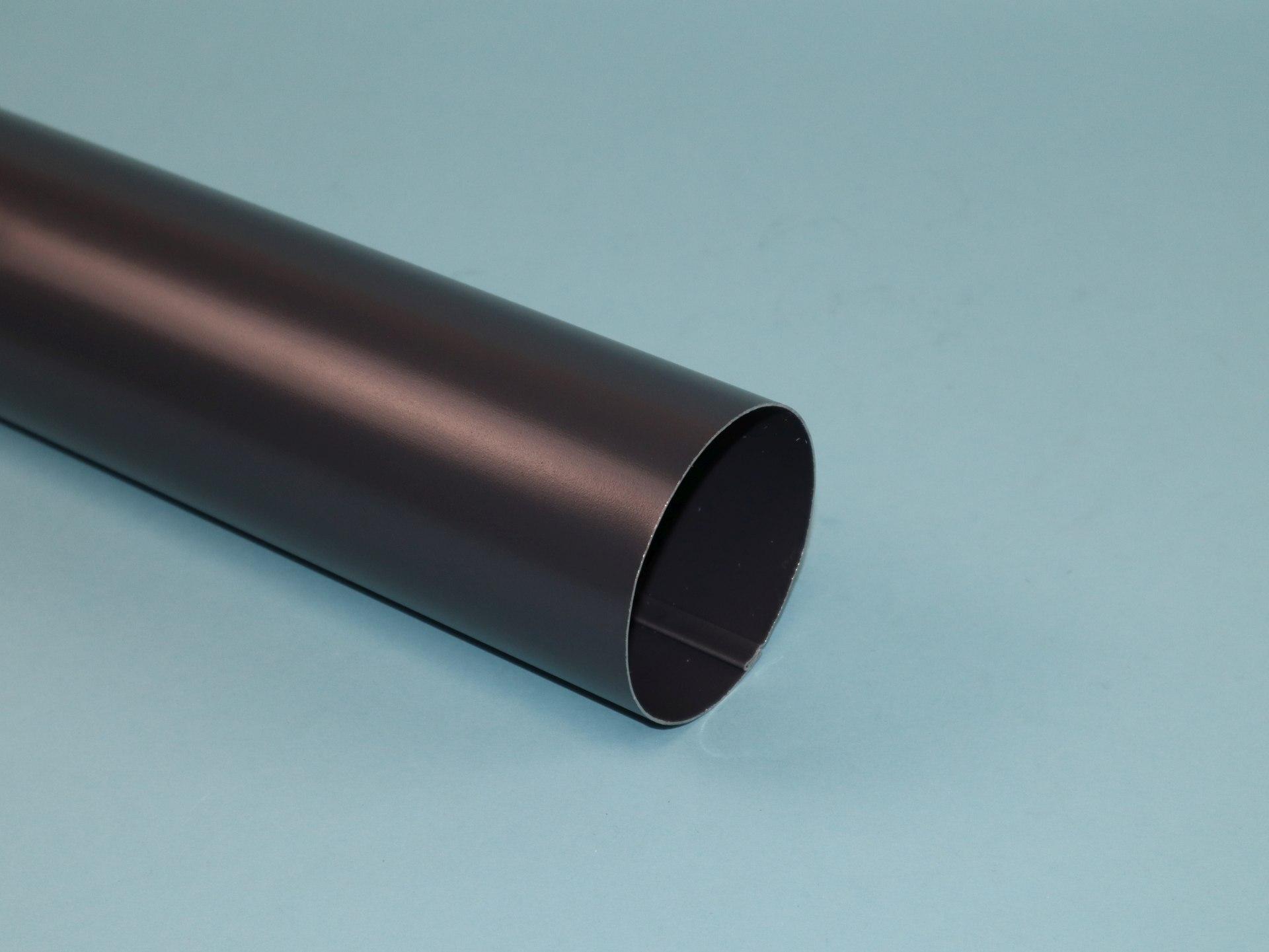 Fallrohr Aluminium anthrazit mit einseitiger Muffe, Länge auswählbar