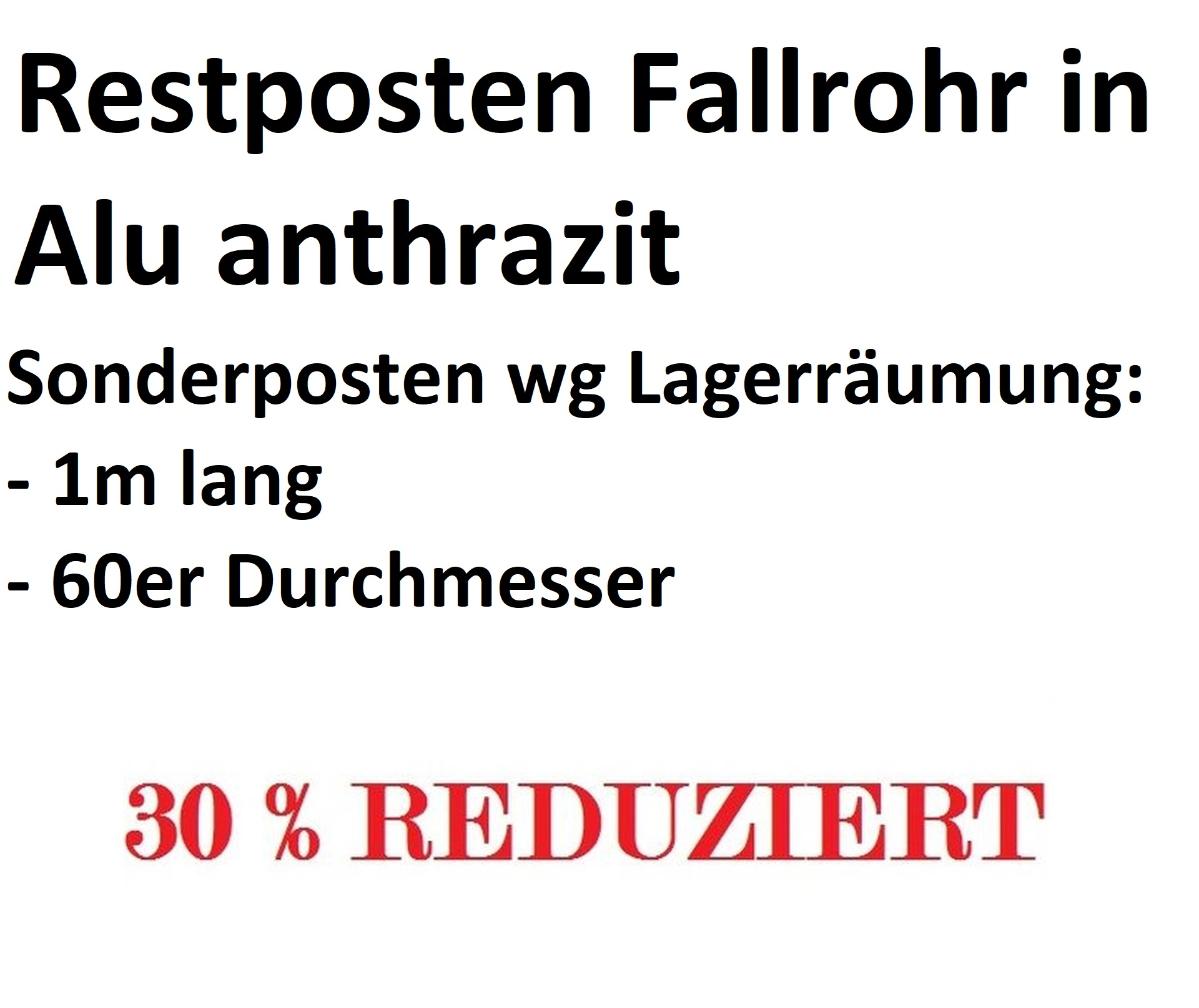 Restposten PREFA Fallrohr P10 Anthrazit (RAL7016)