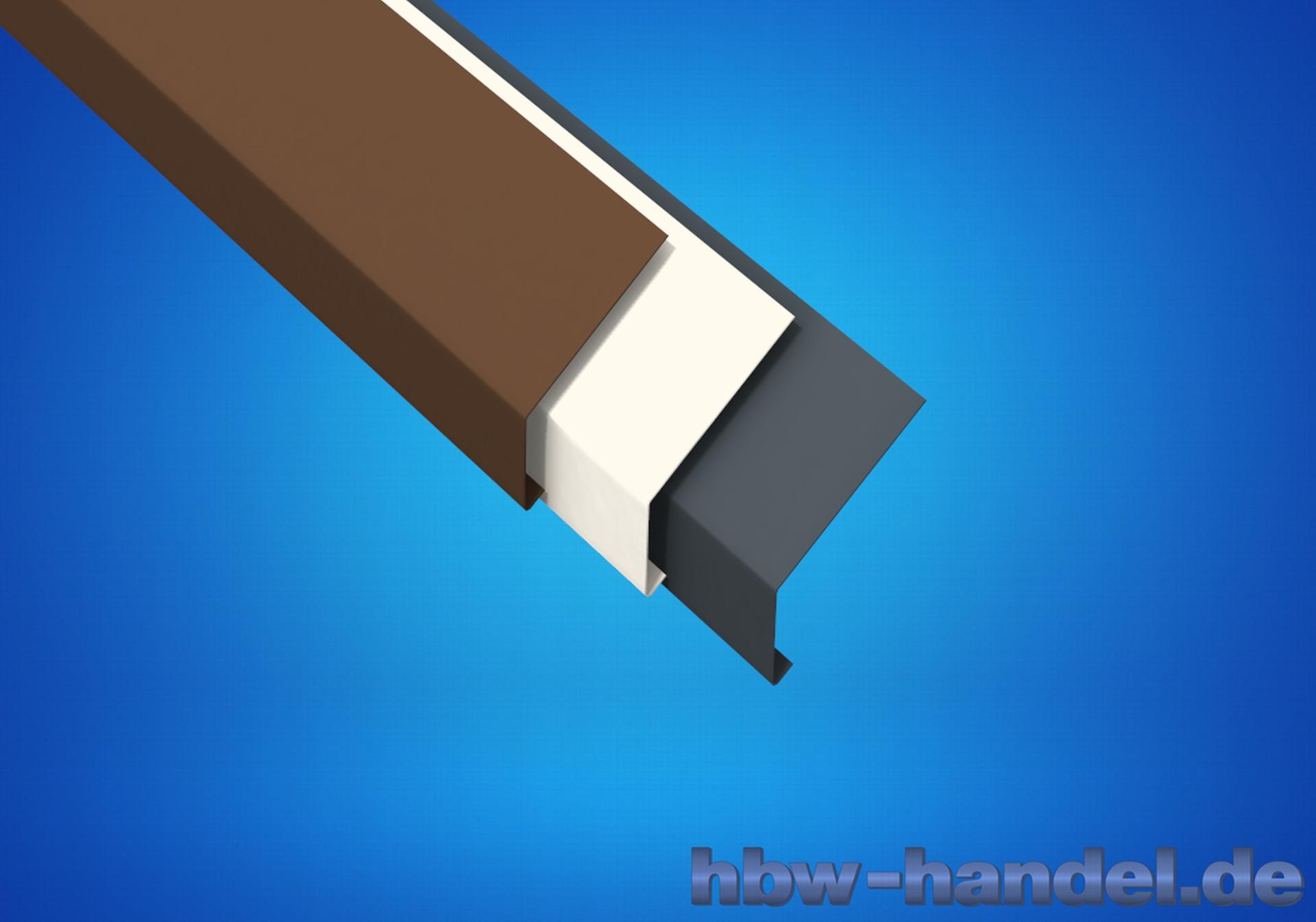 Traufblech, Aluminium farbbeschichtet