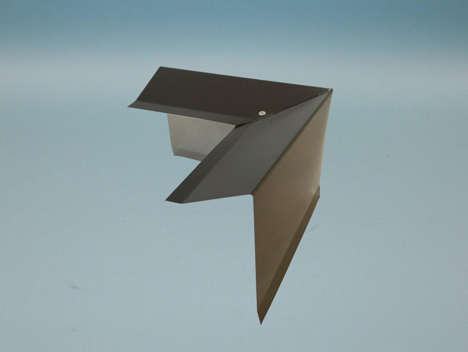 Außenecke 90° für  Ortgangblech Flachdach / Holzkeilbohle