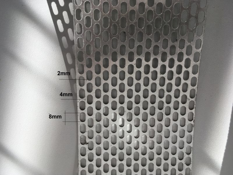 Lüftungsband aus Aluminum als Meterware, Farbe auswählbar