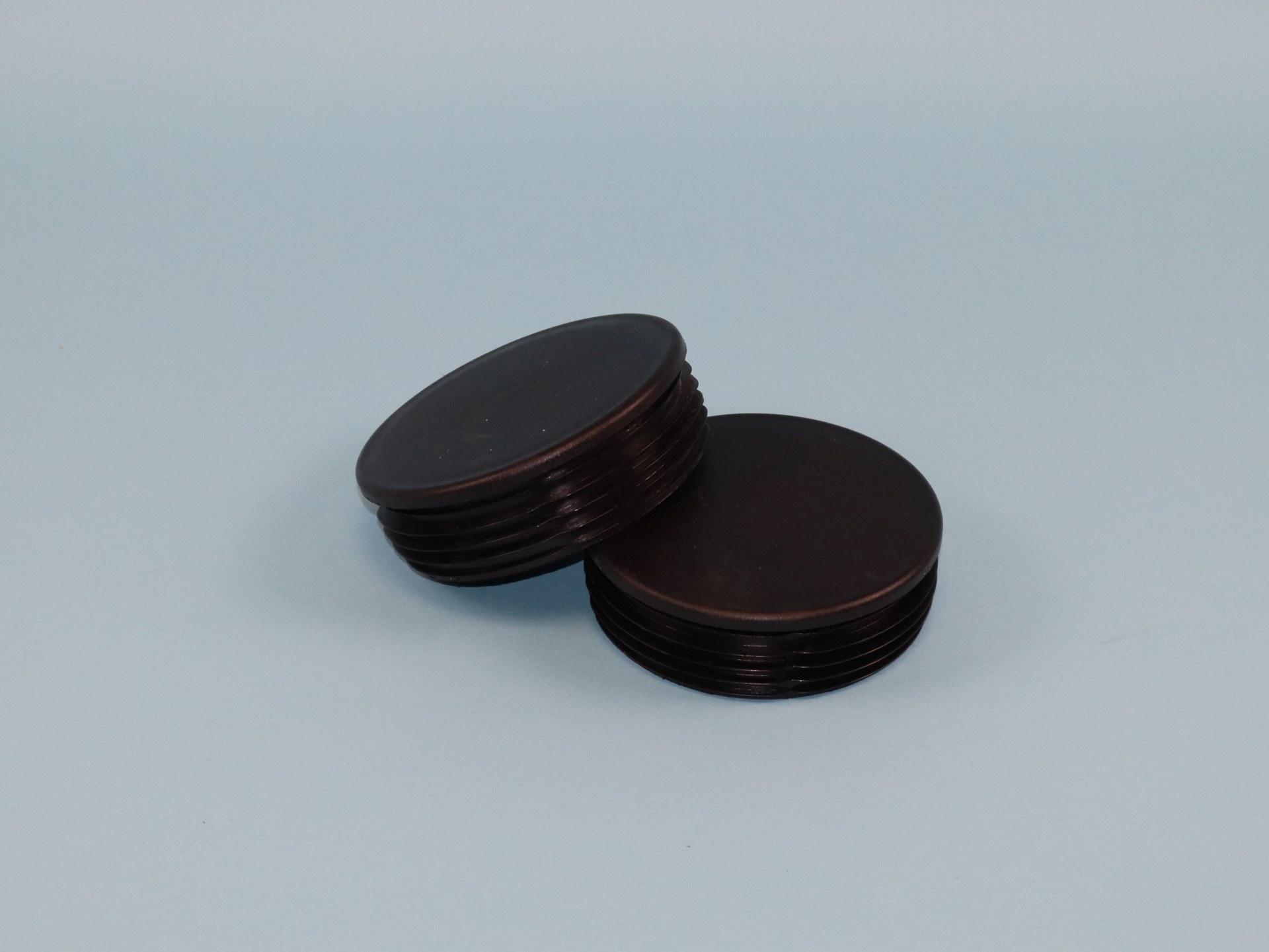 PVC-Endkappen - 1 Paar schwarz