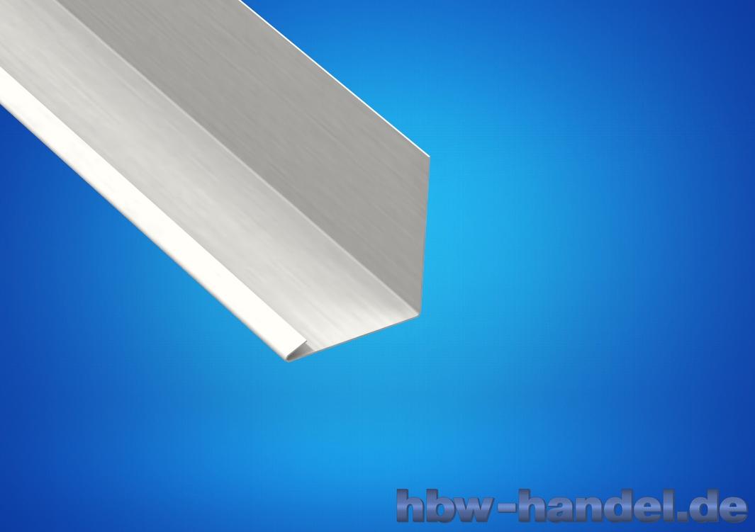 Wandanschlussblech Aluminium natur