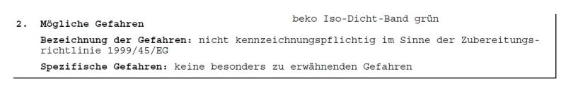 Beko Iso-Dicht Band für Anschlußverklebung