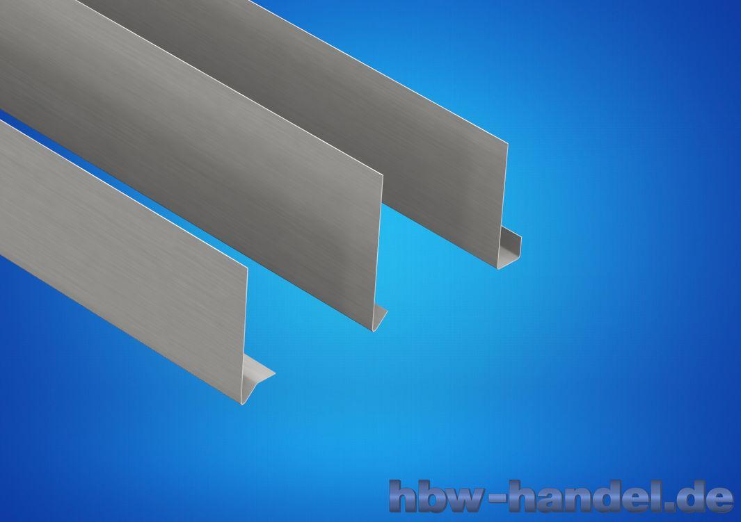 Stirnbrettblende Aluminium natur